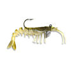 Vudu Shrimp Catches Fish it is a yellow shrimp looking bait